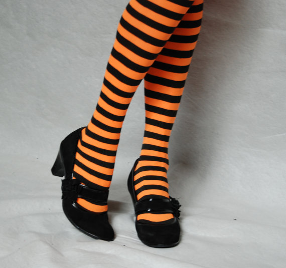 halloween striped Tights