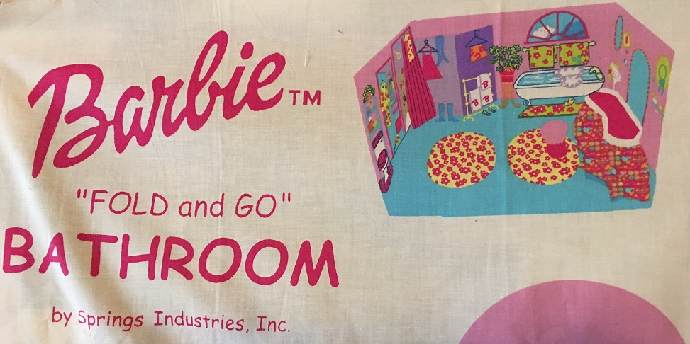 barbie fabric panel