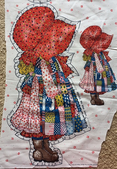 Holly Hobbie doll fabric panel