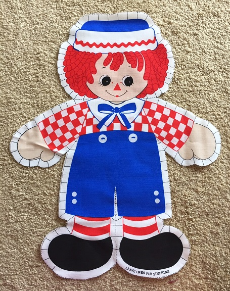 raggedy Andy fabric panel