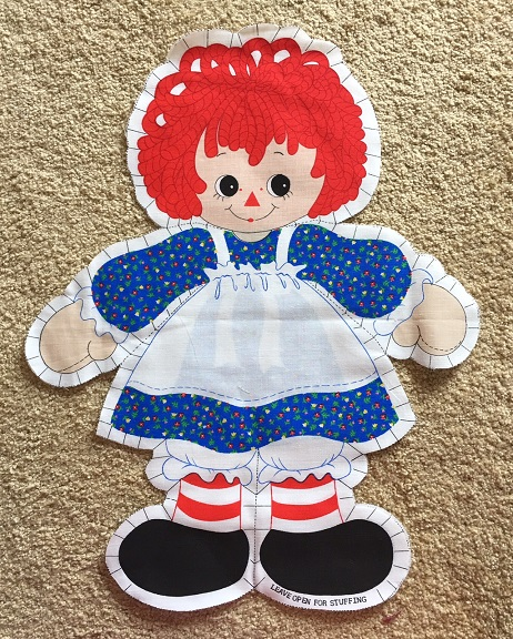raggedy ann fabric panel