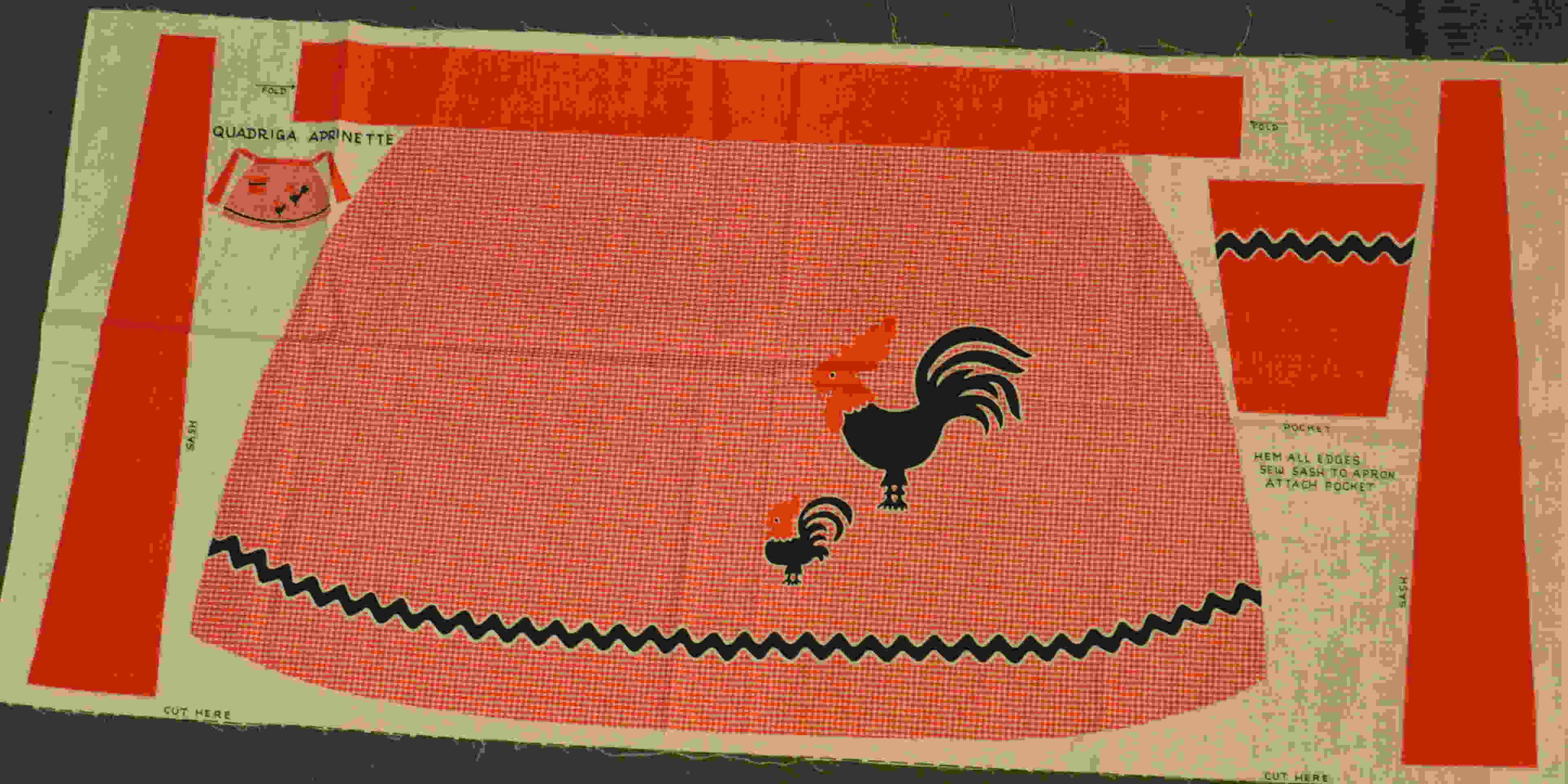 apron fabric panel