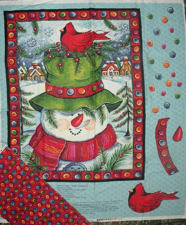 snowman quilt kit fabric