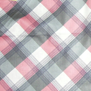 pink black plaid fabric