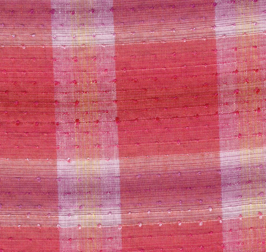 pink purple plaid fabric