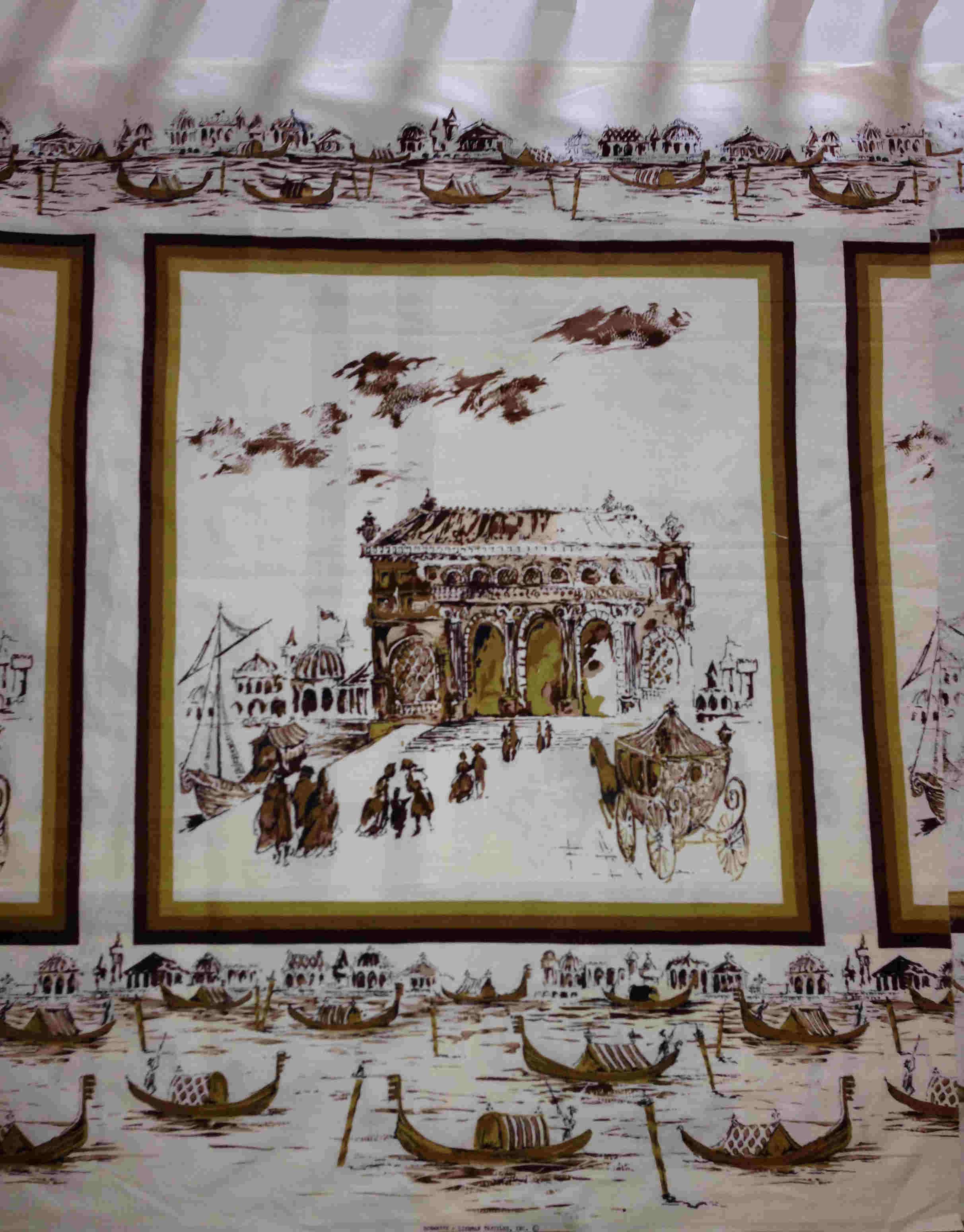 vintage fabric scenic panel
