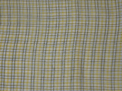 yellow plaid fabric