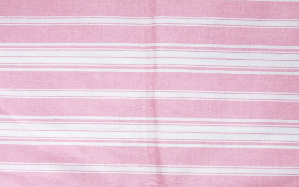 pink striped fabric