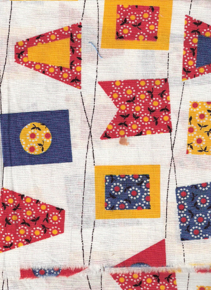 vintage fabric signal flags