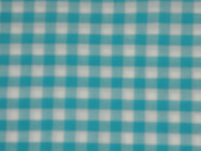 vintage turquoise gingham fabric