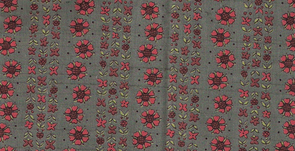 green floral stripe fabric
