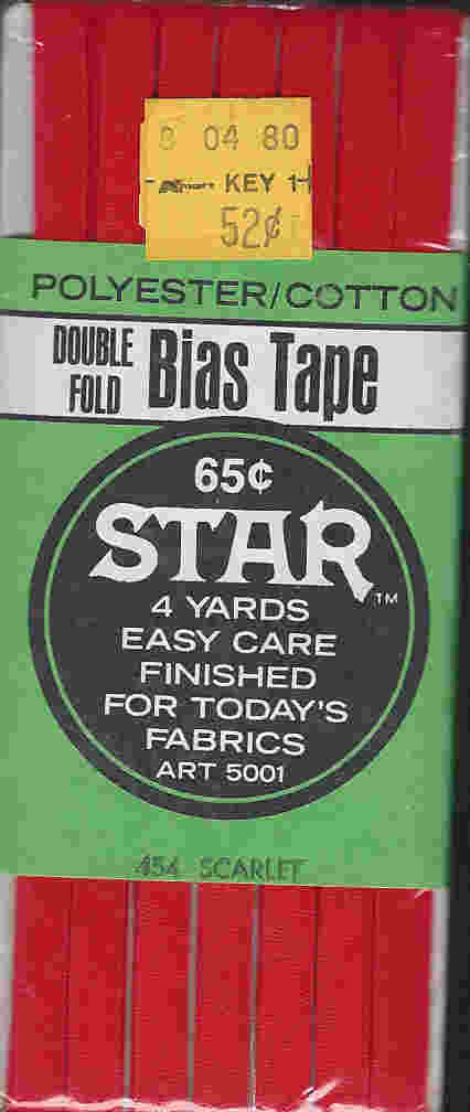 cotton poly bias tape