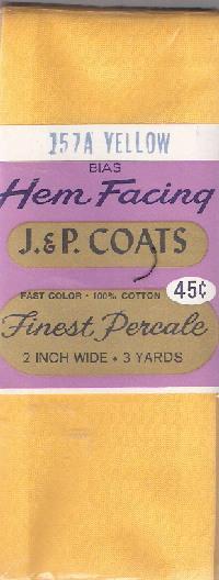 cotton hem facing