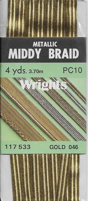 metallic middy braid