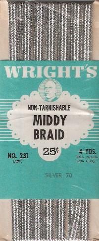 metallic middy braid
