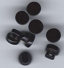 mini black shank button