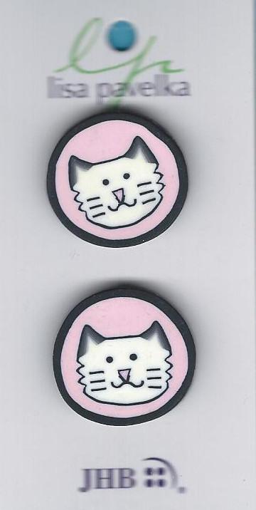 cat pink button