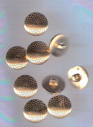 gold shank plastic button