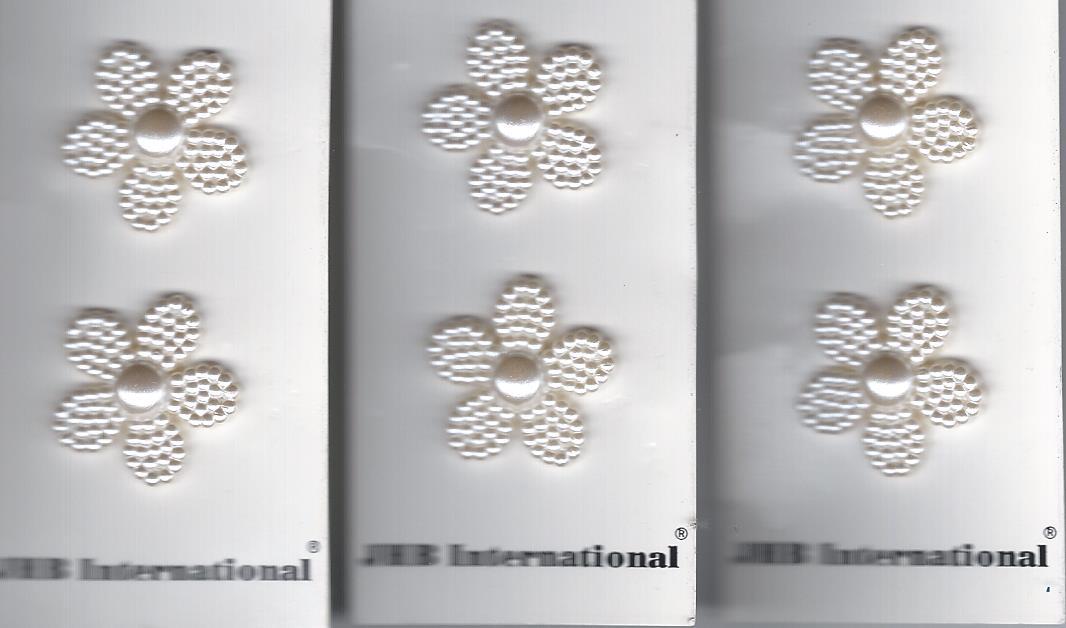 white flower shank button