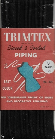corded cotton piping