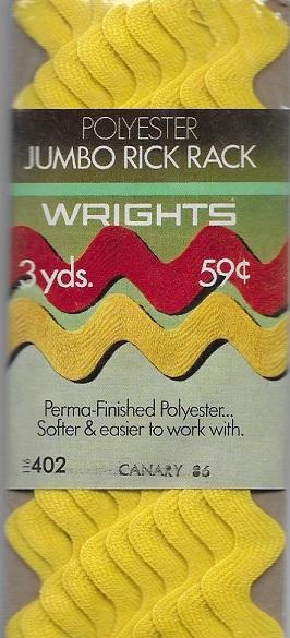 polyester jumbo rick rack
