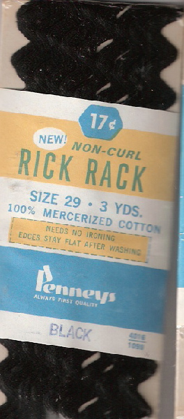cotton rick rack