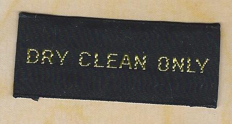sew-in Dry Clean Label