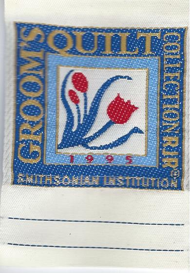sew-in Smithsonian label