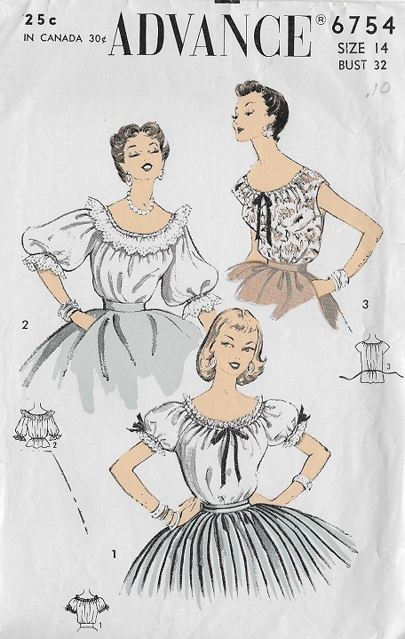 peasant blouse sewing pattern