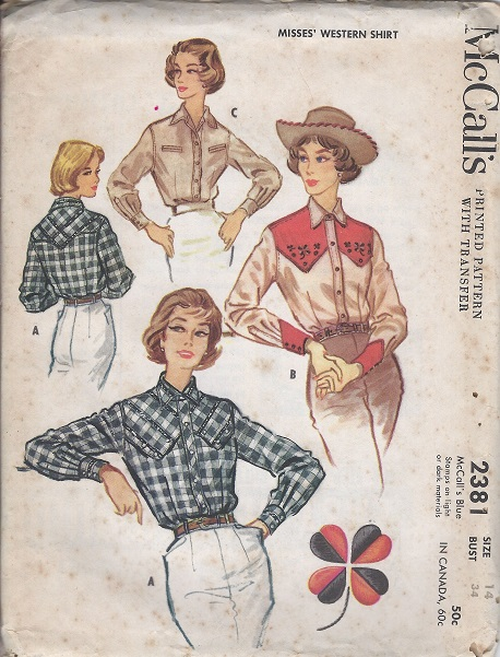 western shirt sewing pattern