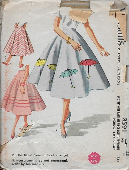 skirt applique sewing pattern