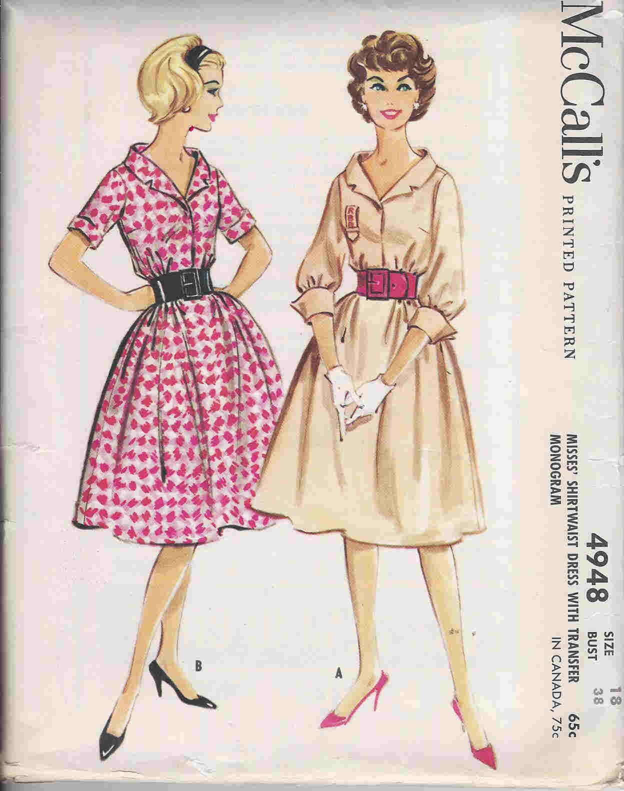 Shirtwaist Dress sewing pattern