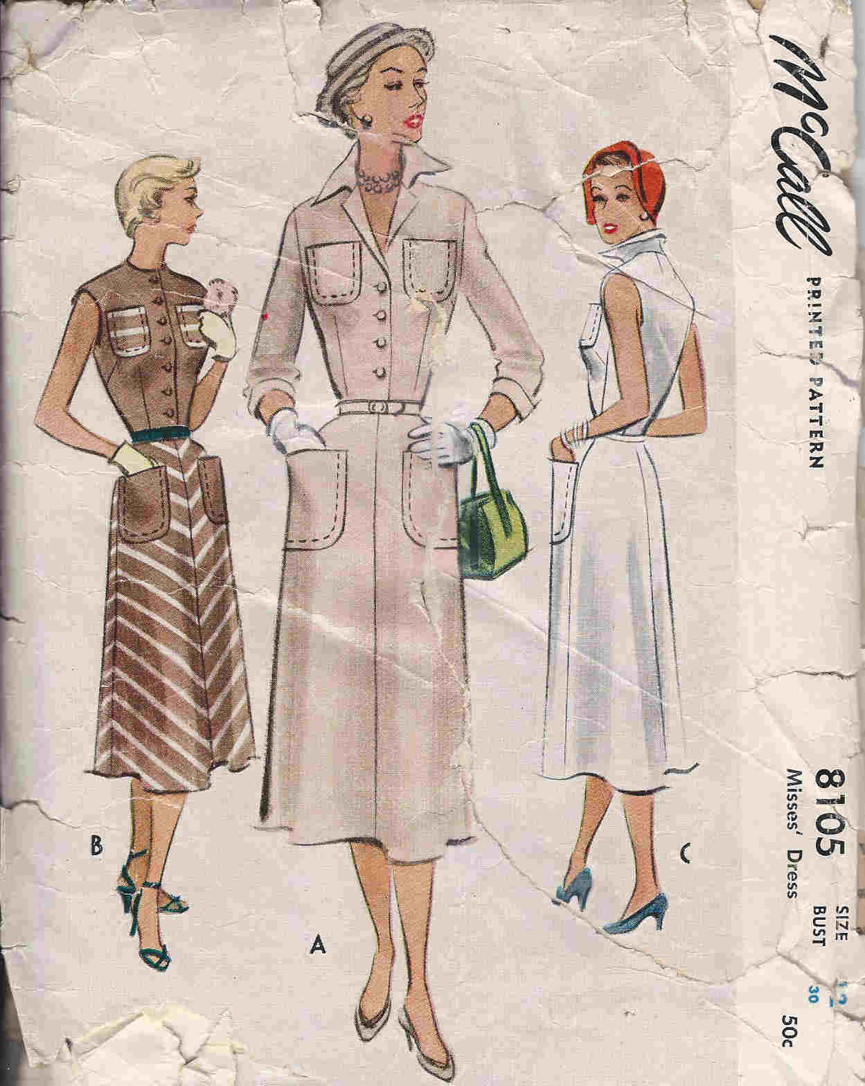 vintage shirtwaist dress pattern