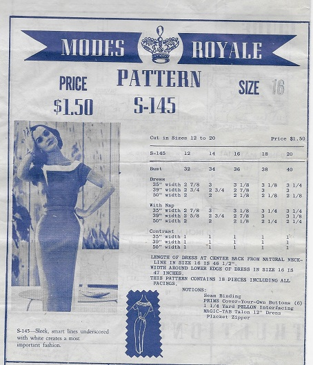 modes royale dress sewing pattern