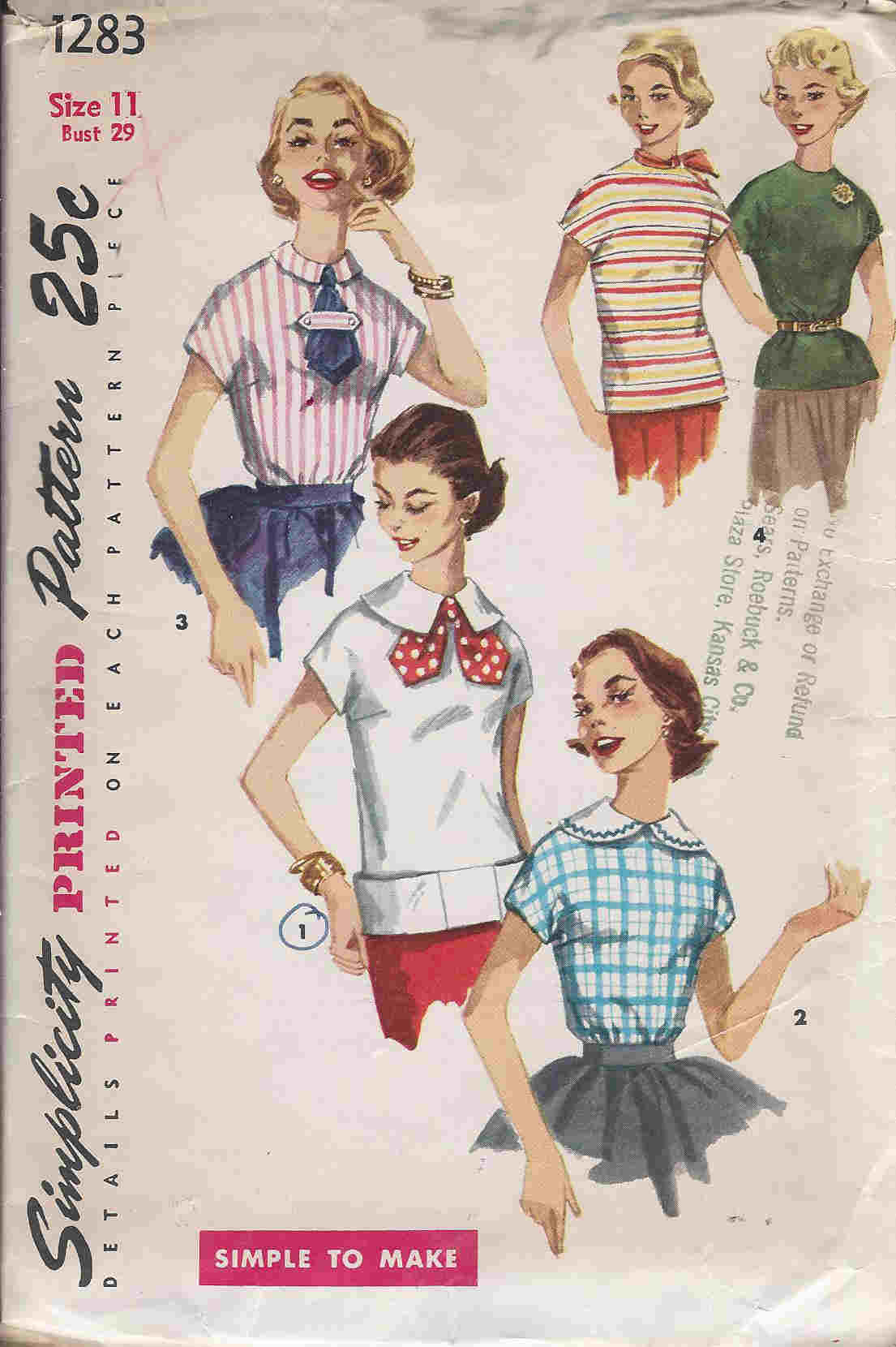 Blouse Overblouse sewing pattern