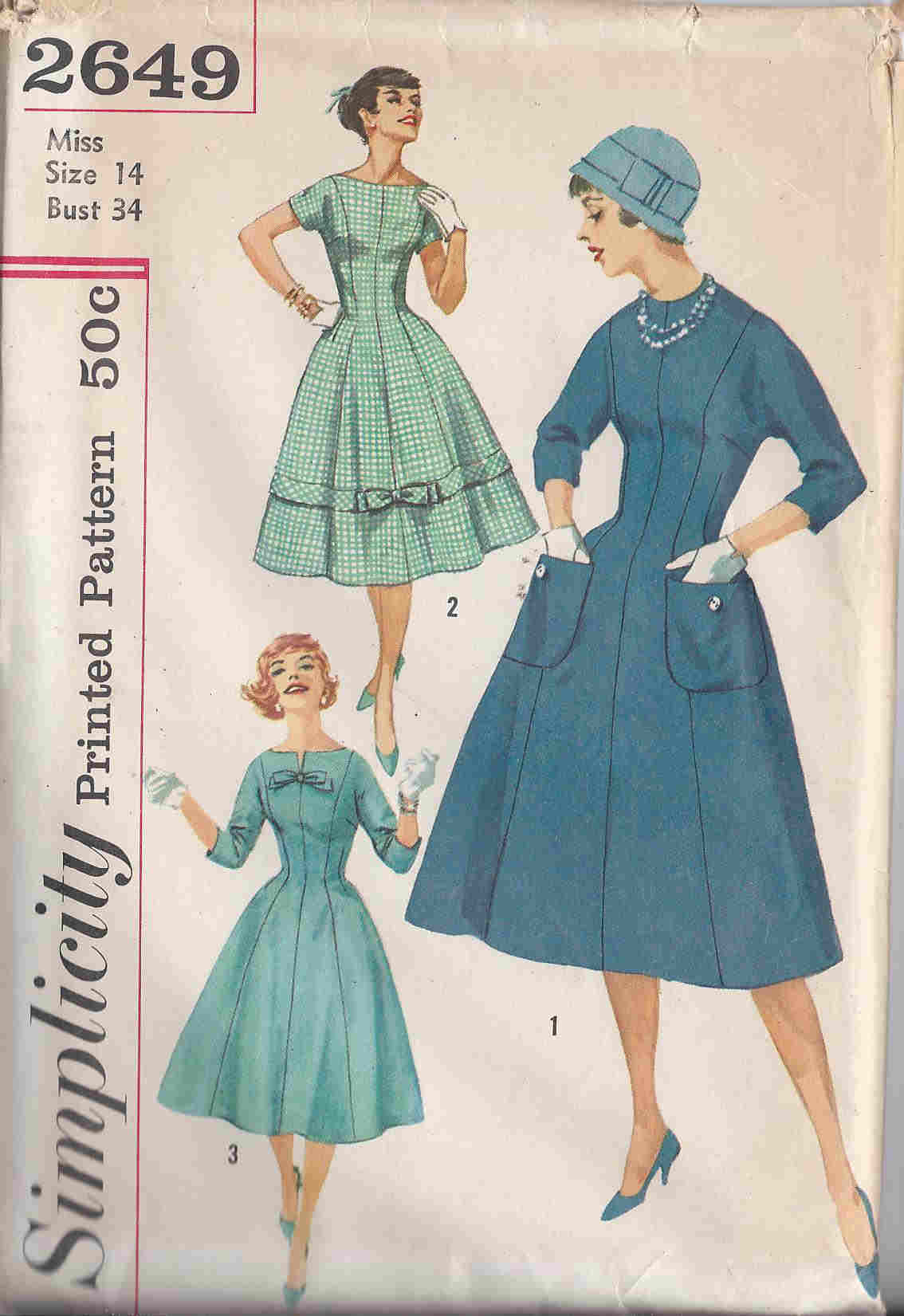 vintage dress sewing pattern