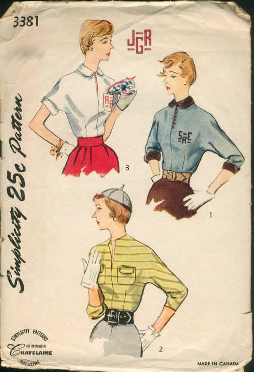 vintage blouse sewing pattern