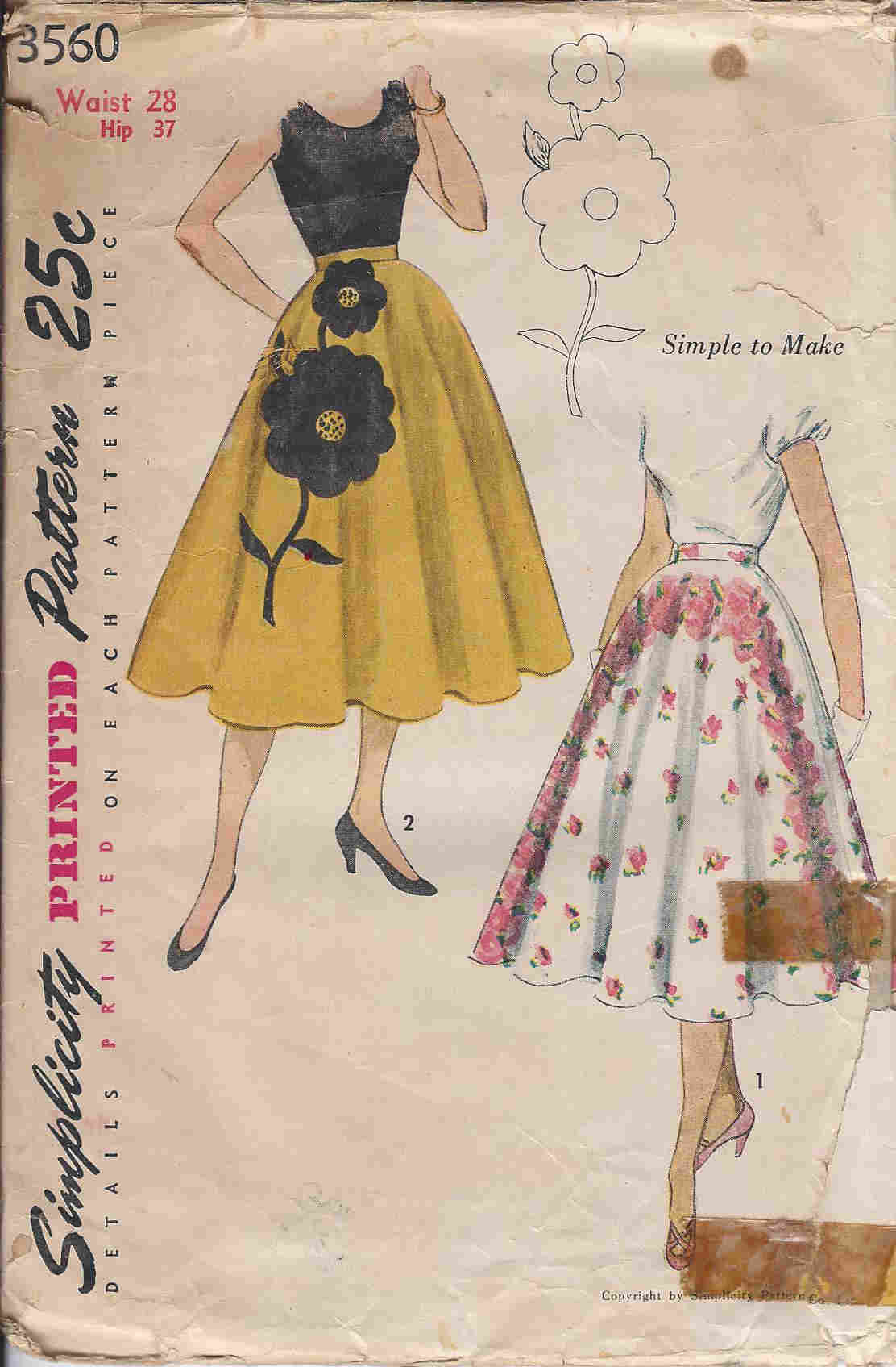circle skirt sewing pattern