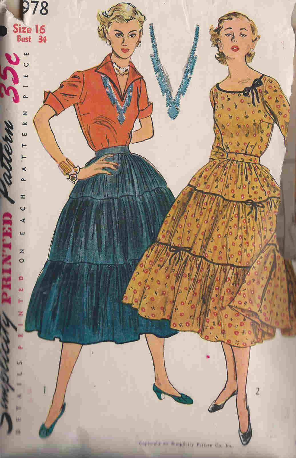 skirt blouse sewing pattern