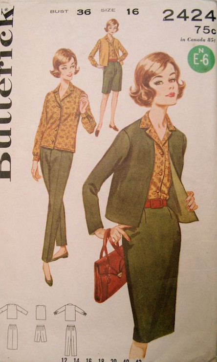 skirt jacket pants sewing pattern