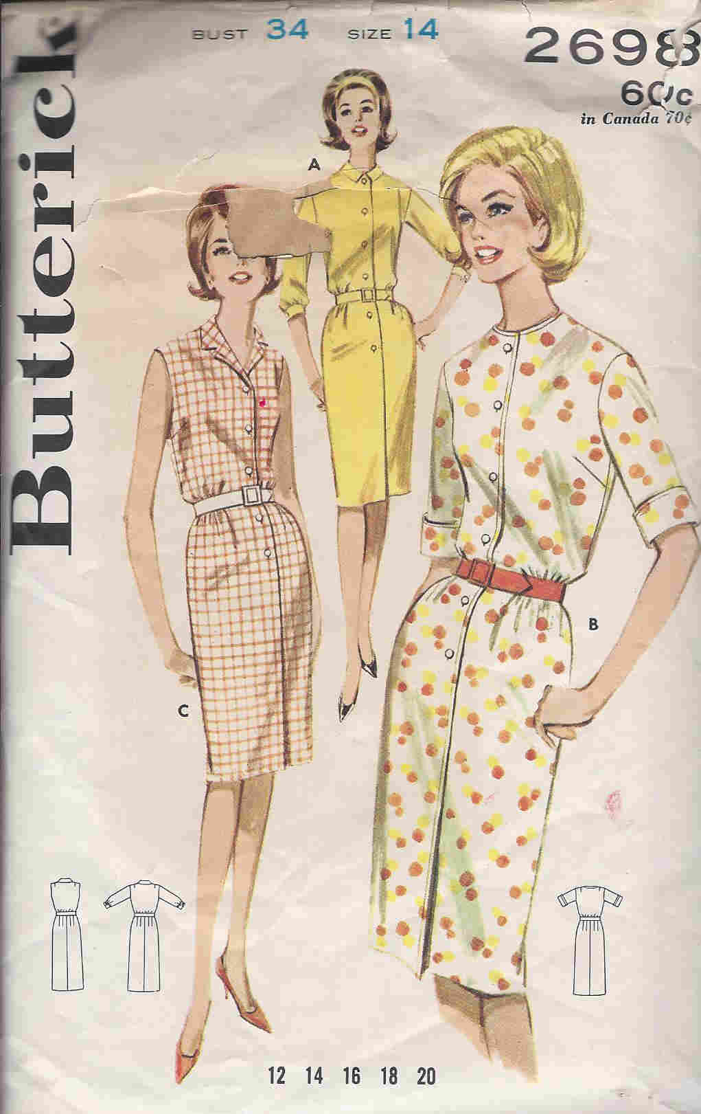 Shirtdress sewing pattern