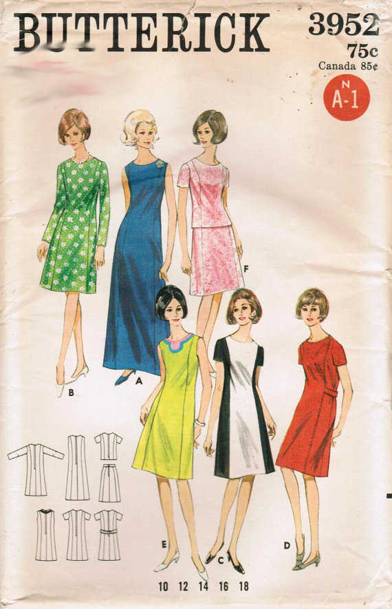 b70595c45b02e DellaJane Sewing Patterns: Fashions From The 1960's