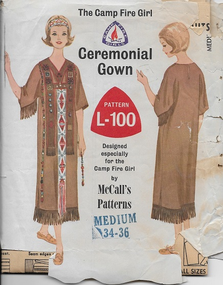 Camp Fire Girls Gown sewing pattern