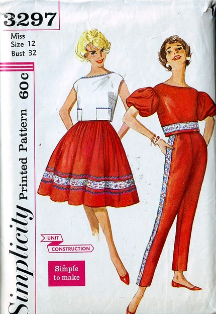 pants top skirt sewing pattern