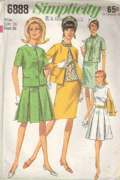 jacket blouse skirt sewing pattern
