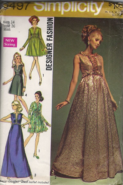 Designer Fashion dress sewing pattern