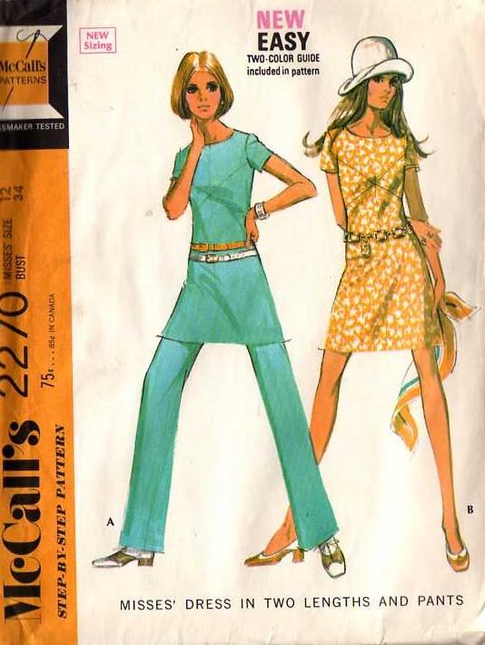 dress pants 1970s Sewing pattern