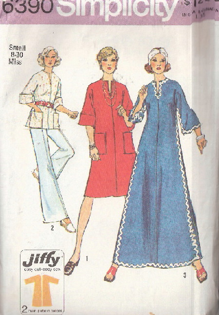 dress top 1970s Sewing pattern
