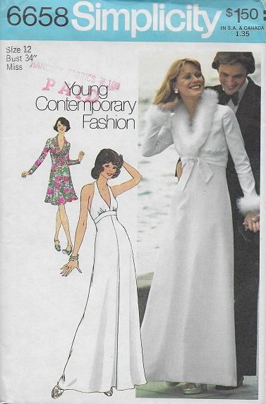 dress jacket young contemporary fashion 1970s Sewing pattern
