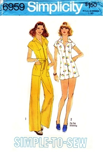 jumpsuit 1970s Sewing pattern